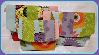 ITH Strip Pieced Flap Wristlet