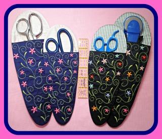 ITH Floral Scissor Case Set LG-