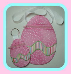 ITH Easter Egg Zippered Bags-easter egg zippered bag, machine embroidery, in the hoop
