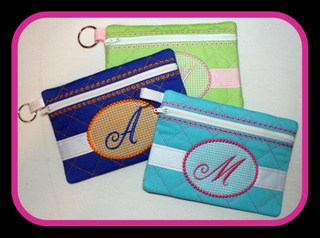 ITH Monogrammed Zippered Bag